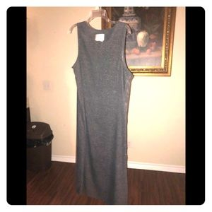 Long grey wool dress